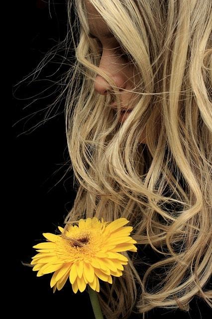 Manzanilla para aclarar el pelo